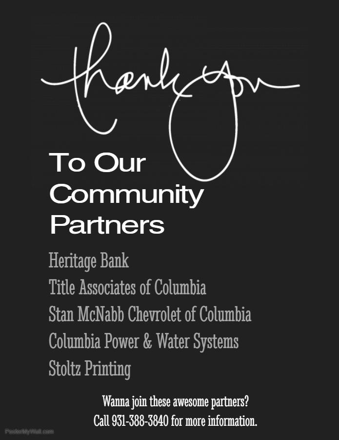 Community Partner thank you